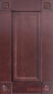 фасады из дерева для кухни крашенные