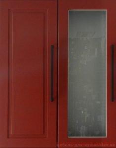 красные мебельные фасады