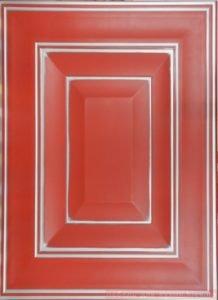 красные деревянные фасады