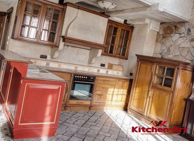 с образная кухня