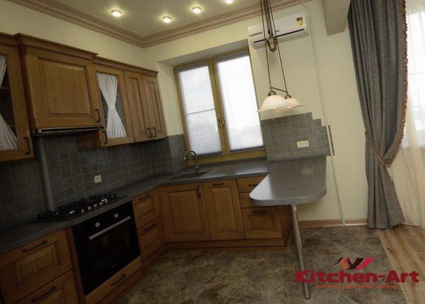 деревянная п образная кухня недорого