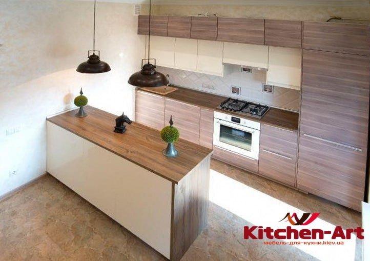 кухня модерн п образная на заказ