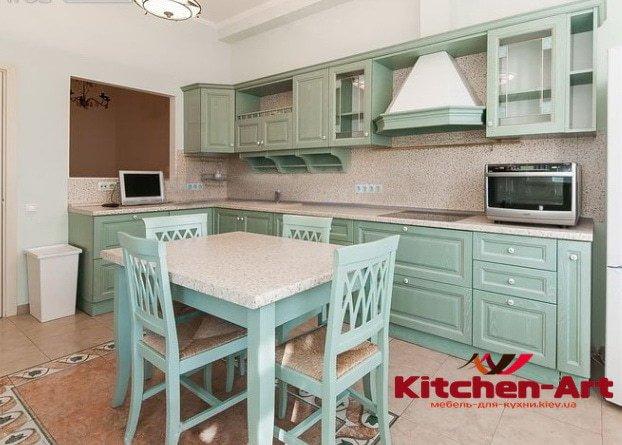 дизайнерская прямая кухня на заказ в Киеве