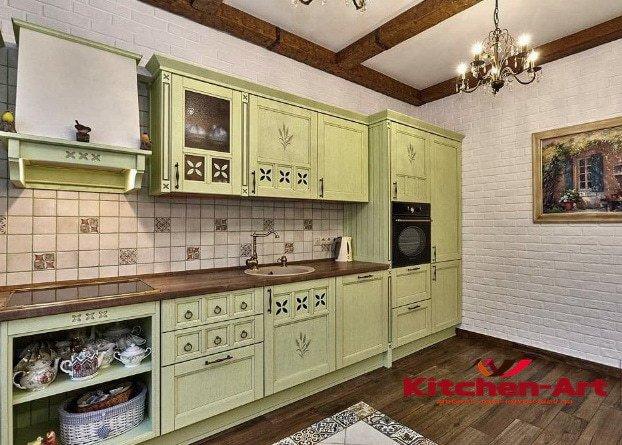 дизайнерская прямая кухня на заказ в Печерск