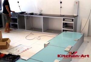 как собирается кухня встроенная