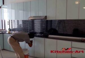 сборка заказной кухни встроенной