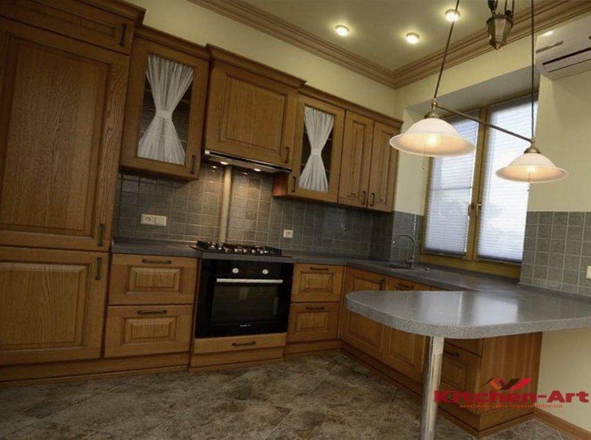 кухня угловая из массива сосны