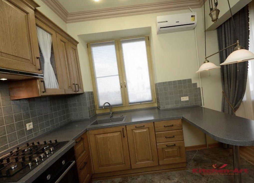 кухня угловая из массива альхи