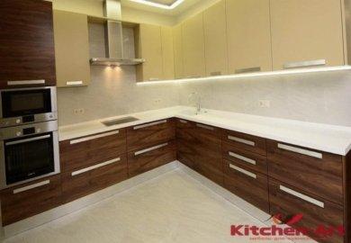 кухонная мебель с подсветкой под заказ