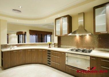 изготовление круглой кухни