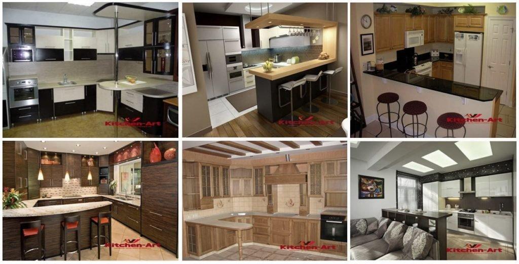 фотографии кухни с барной стойкой