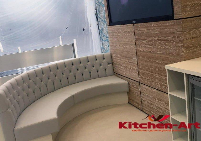 изготовление кухонных круглых диванов
