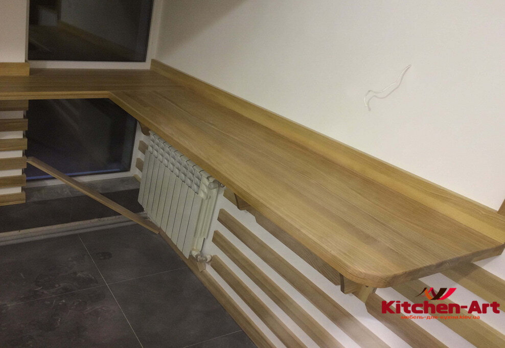 деревянная столешница подоконник