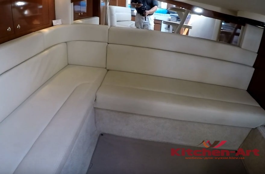 угловой диван для яхты на заказ