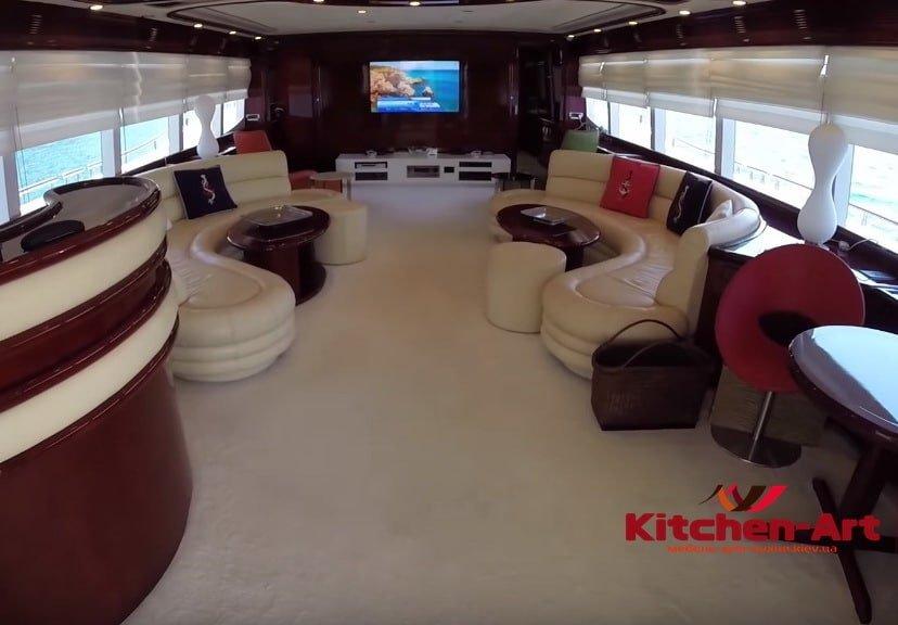 круглые диваны для яхт