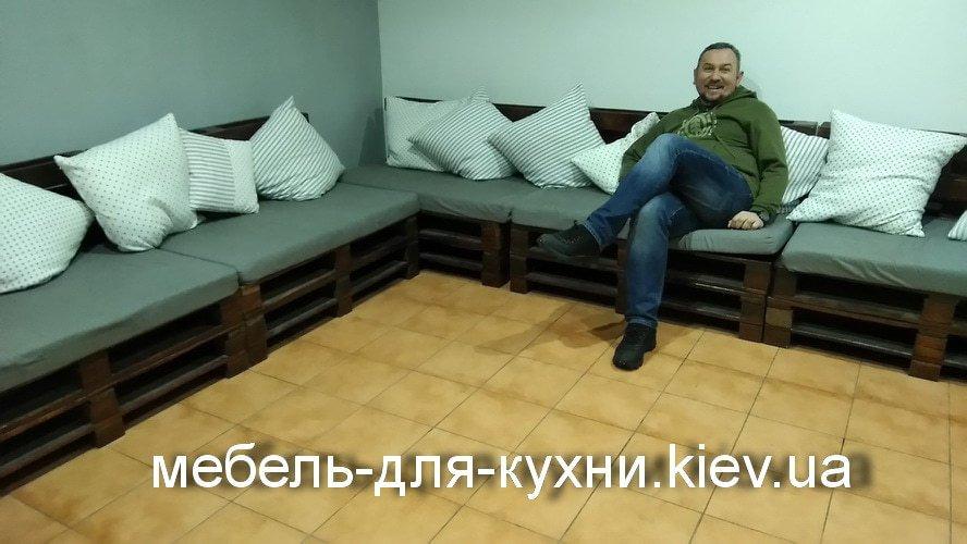Мебель из поддонов для офиса