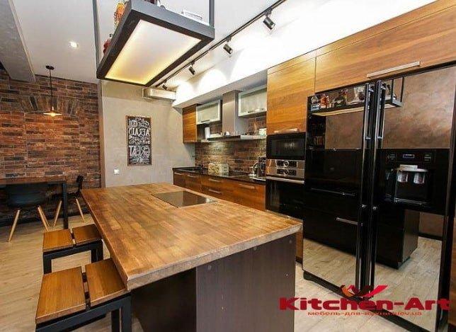 дизайнерские угловые кухни на заказ в Киев