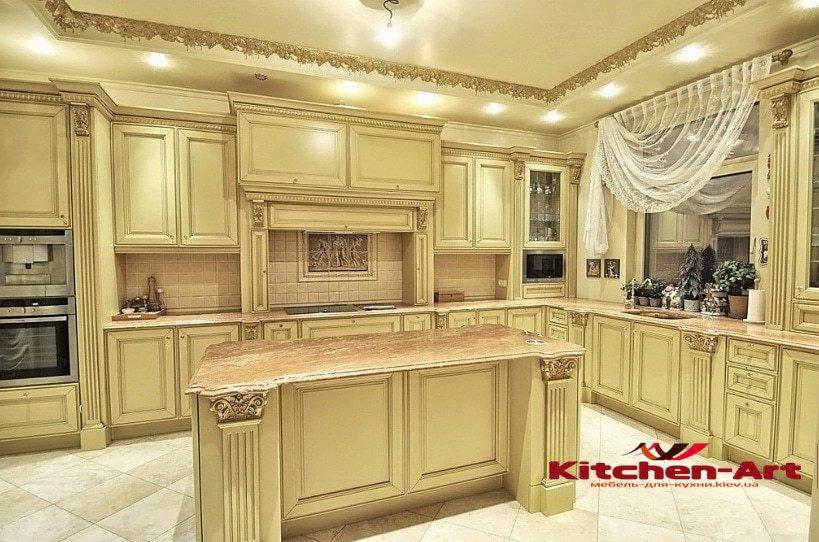 проекты кухонной элитной мебели на заказ из дерева