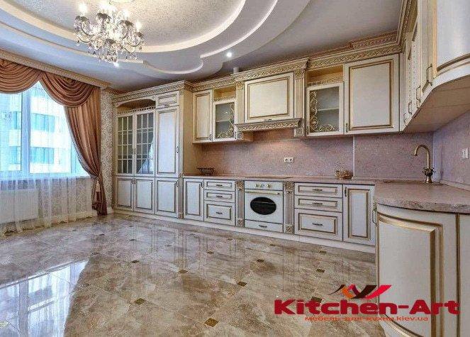 угловая кухня из массива недорого