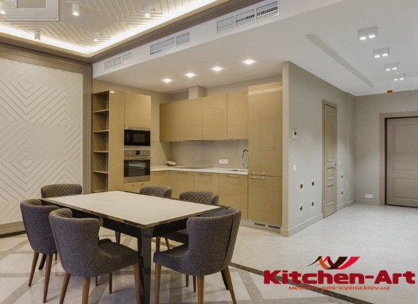 угловая кухонная мебель с ДСП на заказ Одессса