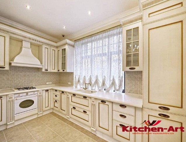деревянная нестандартная кухонная мебель от производителя