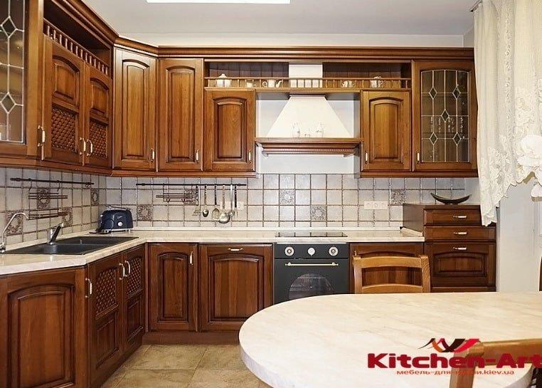 деревянная кухня для элитной квартиры на заказ