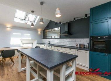 деревянная кухня loft на заказ Вишневое