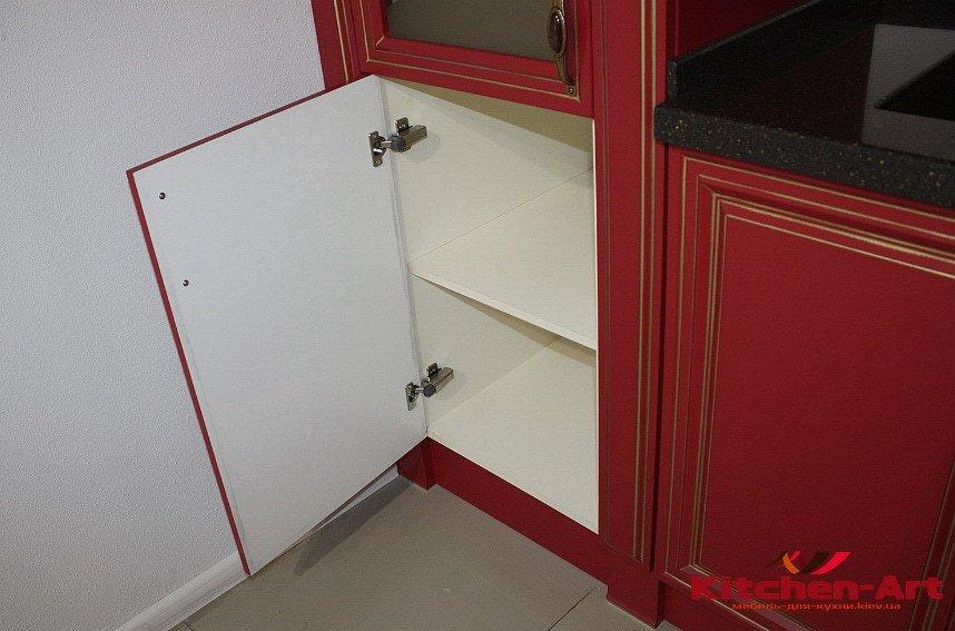 классическая красная кухня под заказ Вишневое