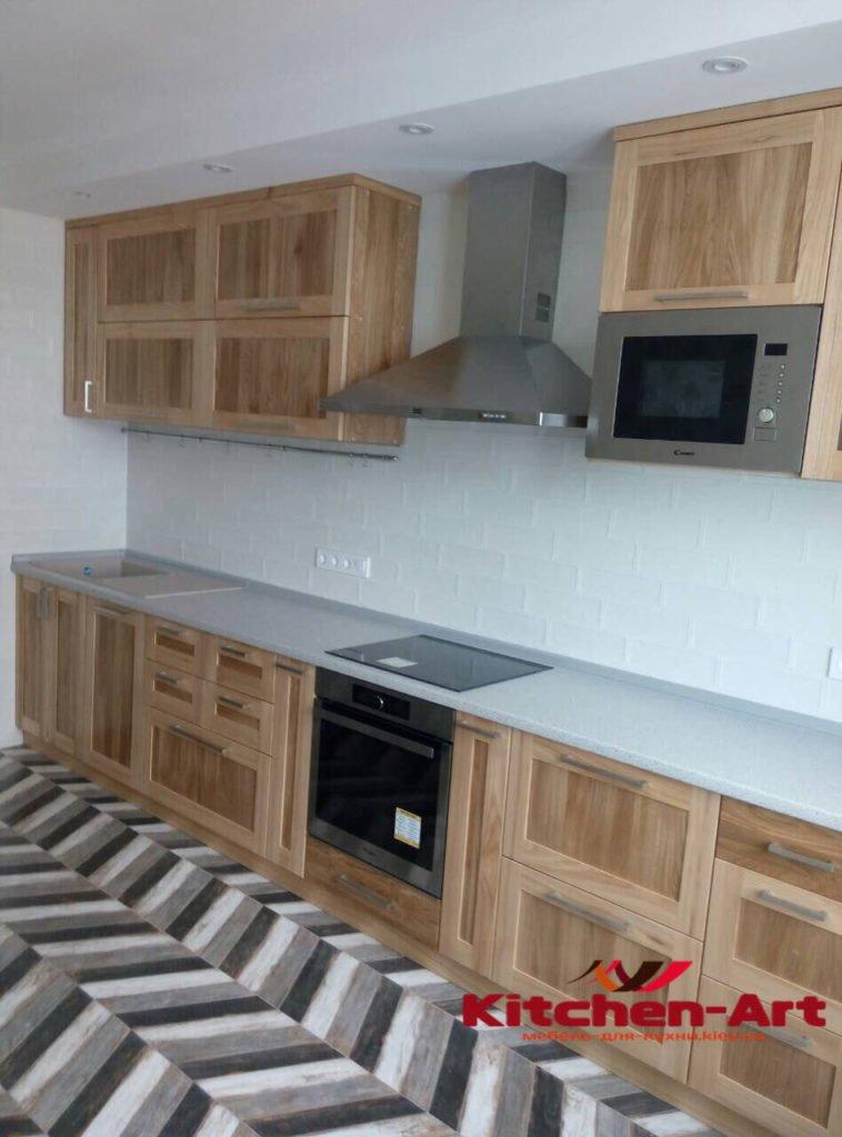 кухня из дерева под заказ Буча