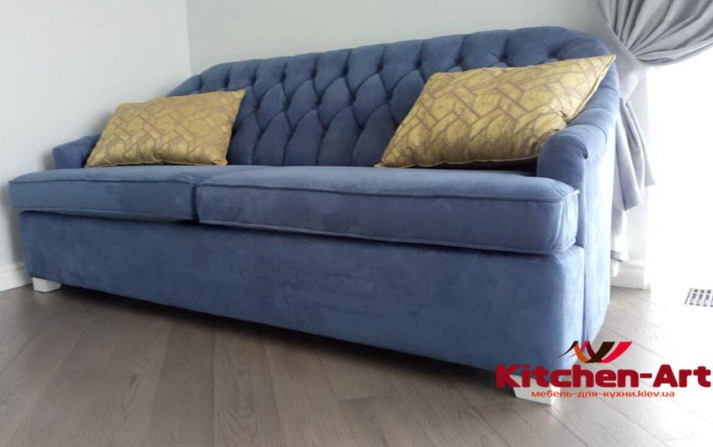 синий диван на заказ