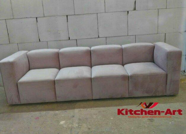 авторский прямой диван на заказ Киев