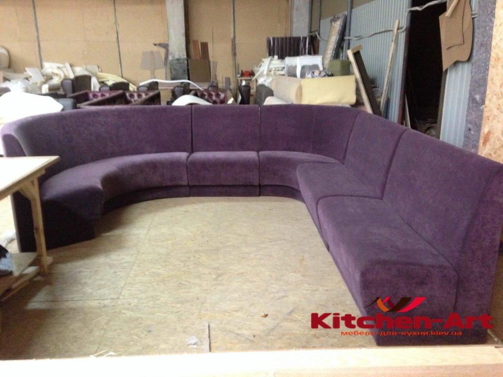 модульный радиусный диван