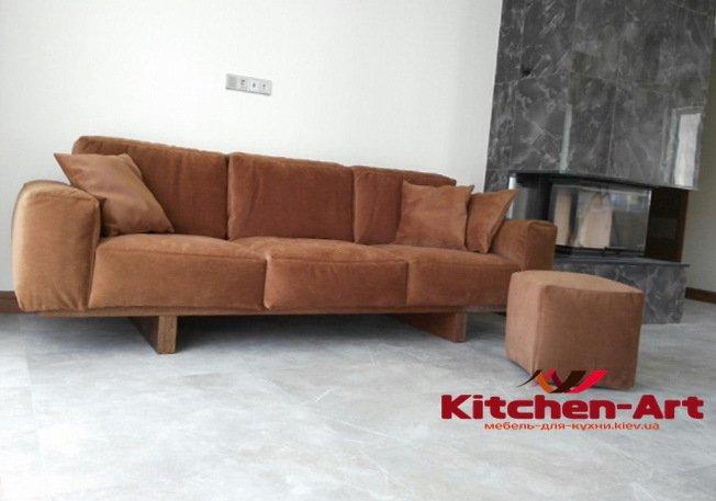 модульный диван коричневого цвета на заказ