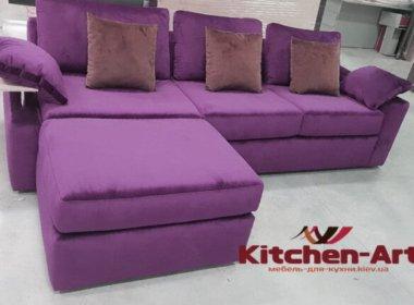Сиреневый диван с подушками на заказ
