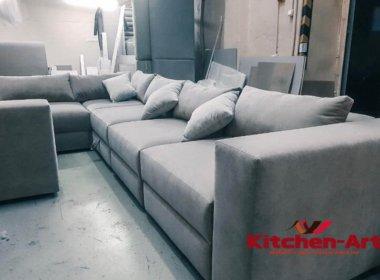Нолубой диван под заказ