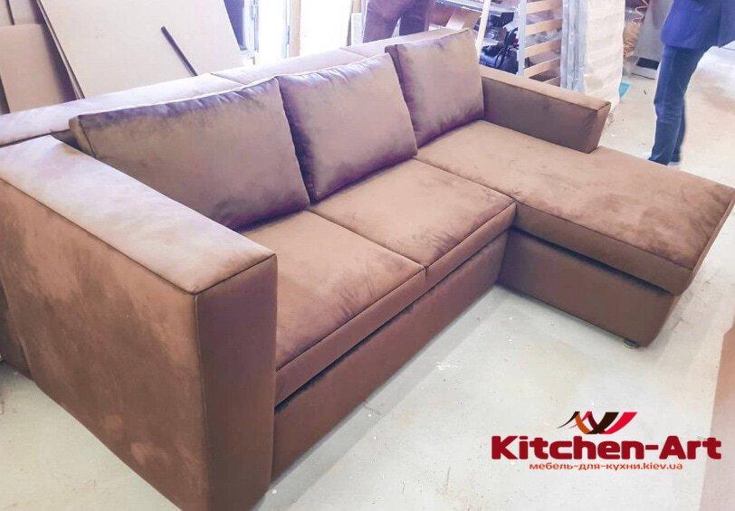 угловой диван со спальным местом под заказ