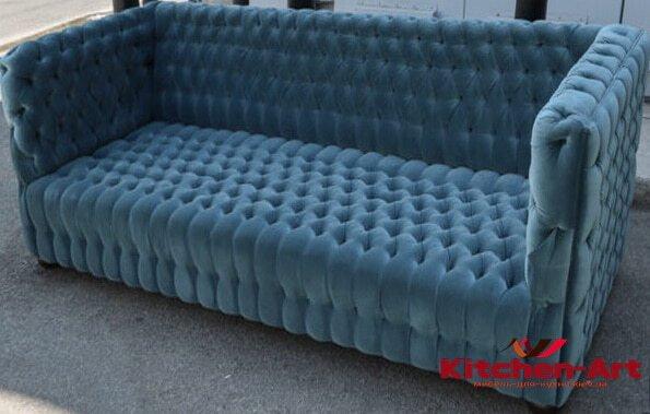 голубой диван на заказ