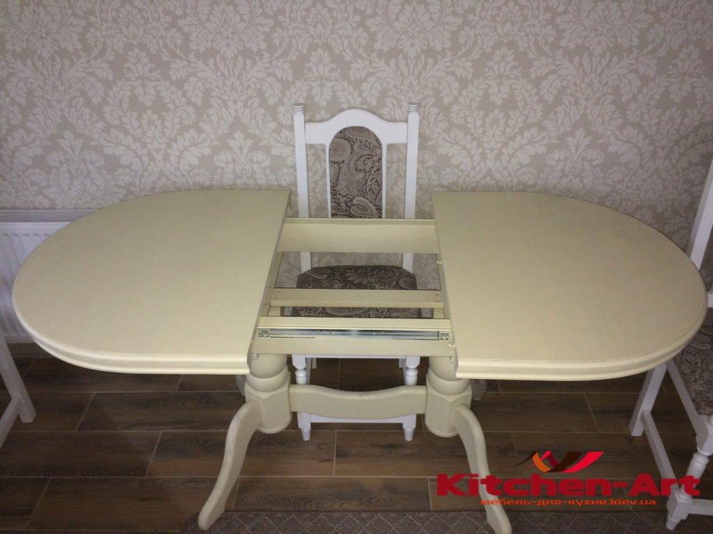 Раздвиной деревянный стол для кухни на заказ