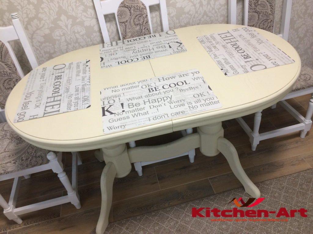 стол из массива для кухни под заказ
