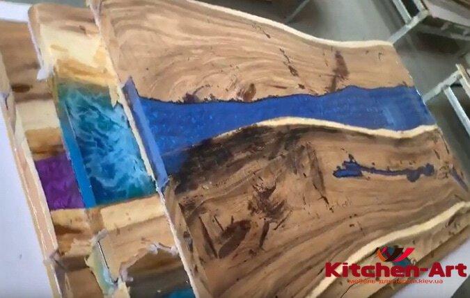 деревянный стол с эпоксидной смолой под заказ Софиевская Борщаговка