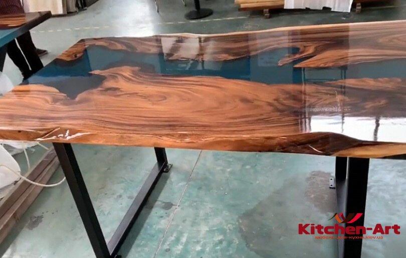 деревянный стол с эпоксидной смолой под заказ Софиевская Борщаговка Россия