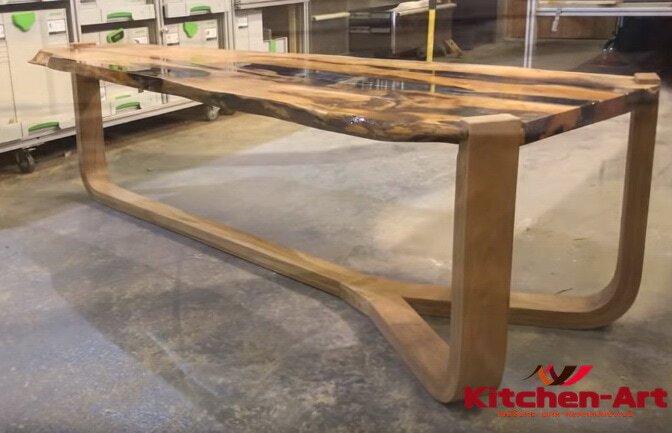 деревянный стол с эпоксидной смолой под заказ Софиевская Борщаговка  Казахстан