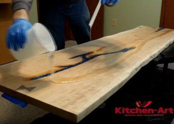 Кухонная столешница из эпоксидной смолы