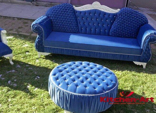 синяямягкая мебель
