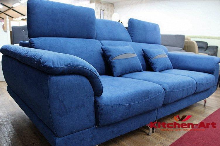 голубая мягкая мебель на заказ