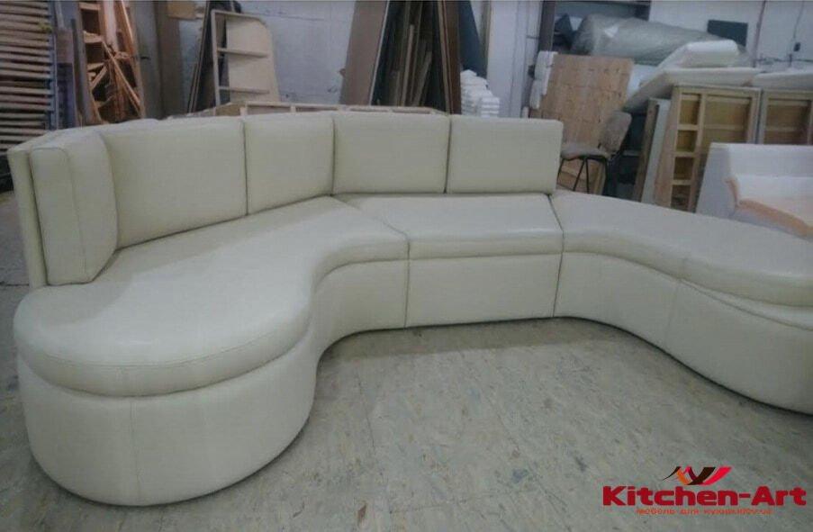 модульный фигурный диван