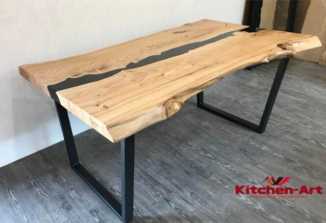 стол из массива дерева река в гостинную лофт