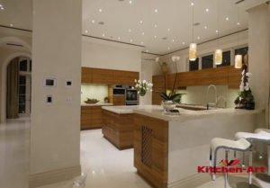 кухня в элитный дом с островом