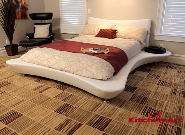 кровать в стиле модерн белая