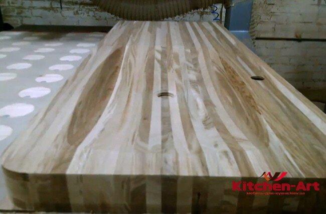 Столешница для раковины из тикового дерева под заказ